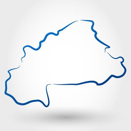 burkina faso: map of burkina faso. map concept
