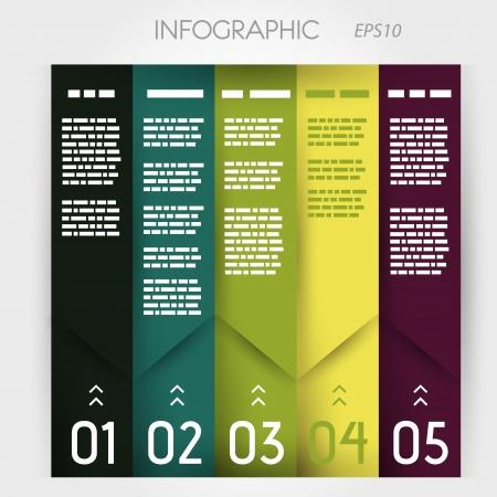 column infographic five oblique options. infographic concept. Stock Vector - 20135958