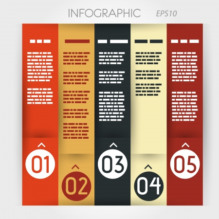 column infographic five options in rings zig-zag. infographic concept. Stock Vector - 20135869