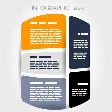 artikelen: cilinder infographic indeling met 5 artikelen. infographic concept. Stock Illustratie