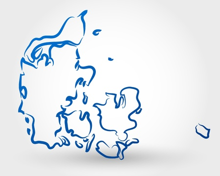 danish: map of denmark. map concept