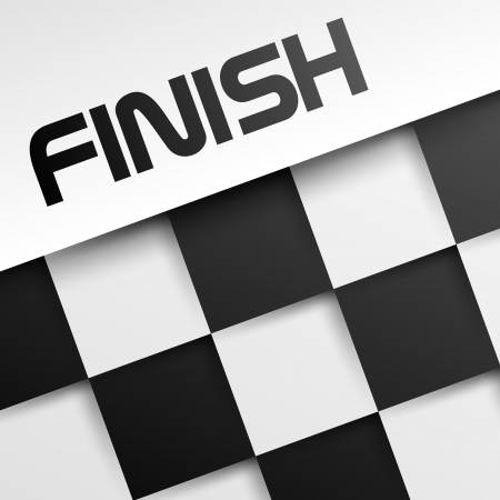 finish square template, winnig template,  Vector