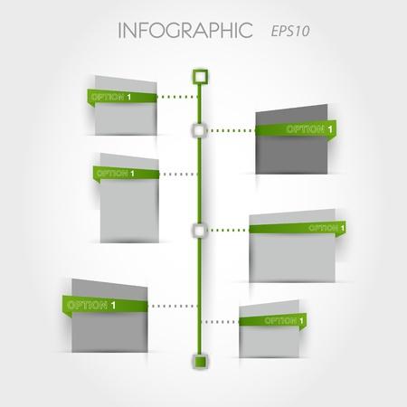verde cronograma quadrado. conceito infográfico.