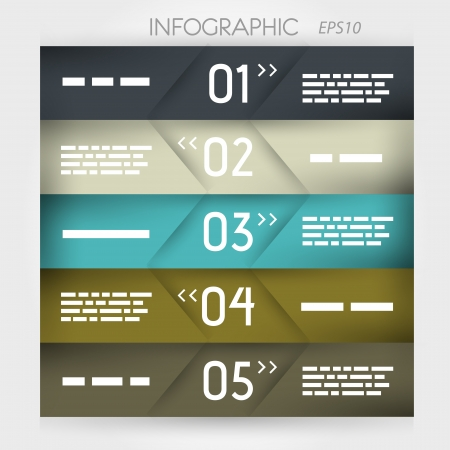 infographic five oblique options in middle. infographic concept. Stock Vector - 20135999