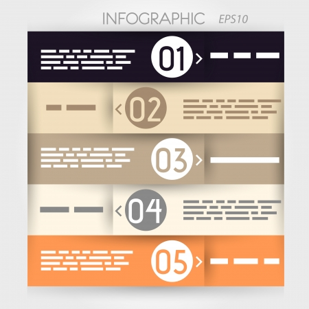 infographic five options in rings zig-zag. infographic concept. Stock Vector - 20135857