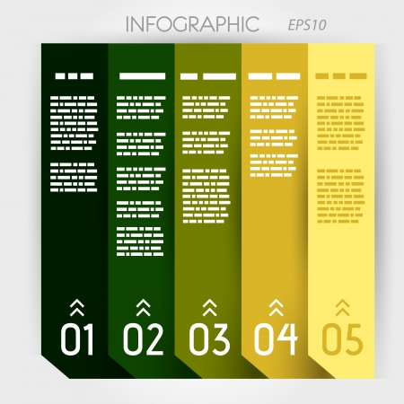 infographic five options notebook columns. infographic concept.