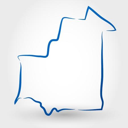 mauritania: map of mauritania. map concept