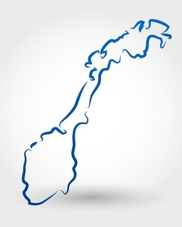 mapa de noruega. mapa conceptual