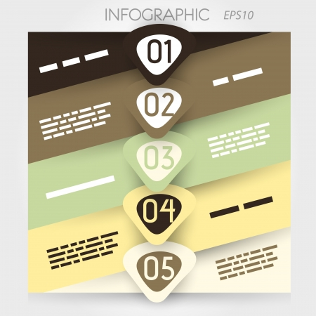 oblique line infographic five options in big arrowsin middle. infographic concept. Stock Vector - 20136029
