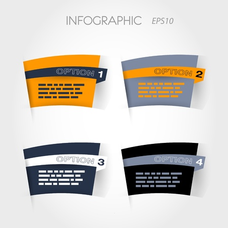 orange and blue arc options. infographic concept. Stock Vector - 20135850