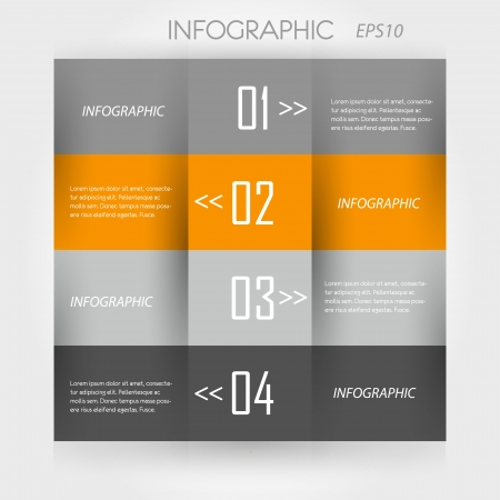 orange infographic. modern infographic concept. Stock Vector - 20135945