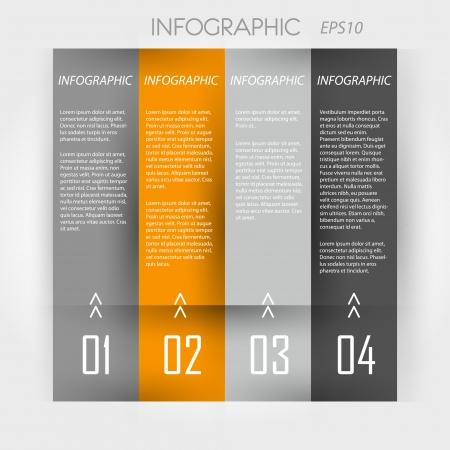 orange infographic 4 columns. infographic concept. Stock Vector - 20135955