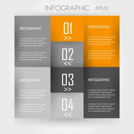 orange infographic 4 corners. infographic concept. Stock Vector - 20135879