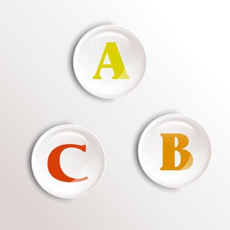 cocnept: orange round numbers. infographic cocnept.