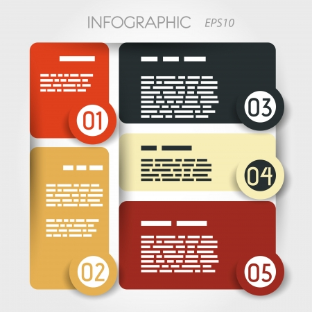 rounded square presentation infographic. infographic concept. Stock Vector - 20135948