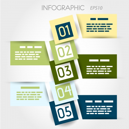 square bubble infographic  infographic concept  Stock Vector - 20135961