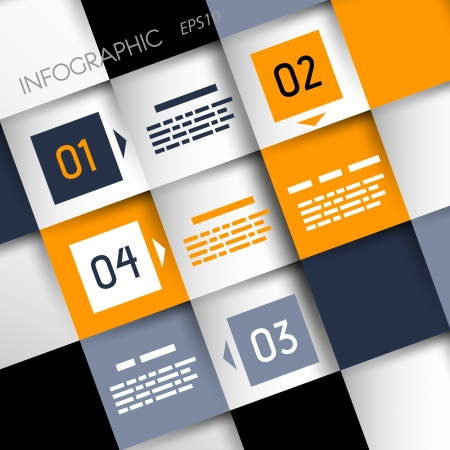 square infographic backgorund with 3d squares  infographic concept Stock Vector - 20136035