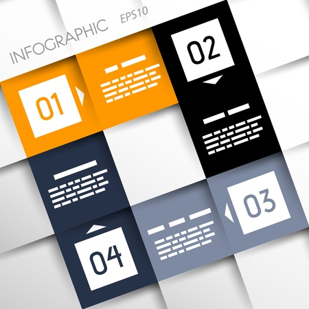 square infographic four options   infographic concept Stock Vector - 20135987