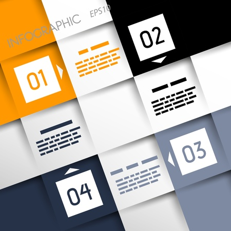 square infographic four options in corners  infographic concept Stock Vector - 20135995