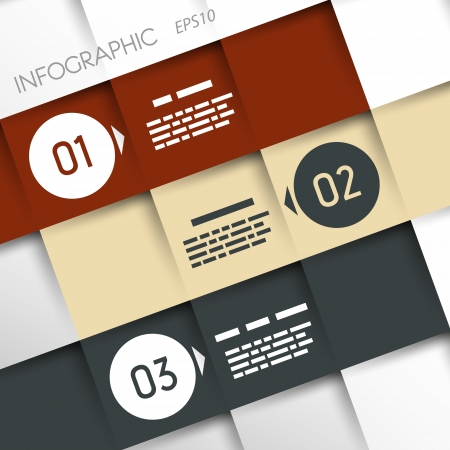 square inforgraphic three oblique options  infographic concept Stock Vector - 20135994