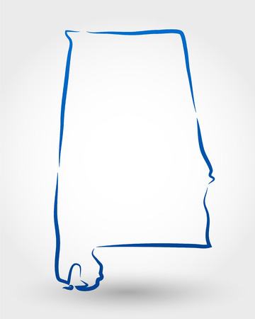 delineation: map of alabama  map concept