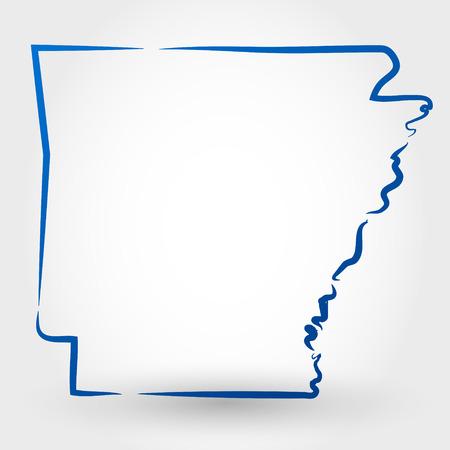 アーカンソー州マップの概念の地図
