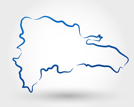 dominican republic: mao of dominican republic  map concept Illustration