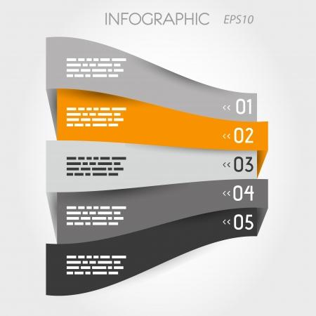 grey and orange perspective infographic with options. infographic concept. Stock Vector - 22289437