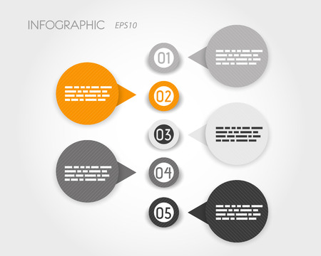 grey and striped infographic rings. infographic concept. 向量圖像