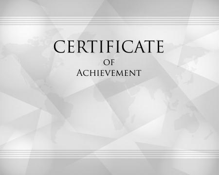 grey crystalline certificate, certificate concept Illustration