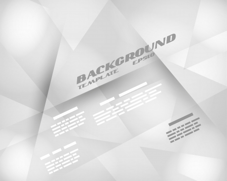grey infographic background crystalline template. background concept.