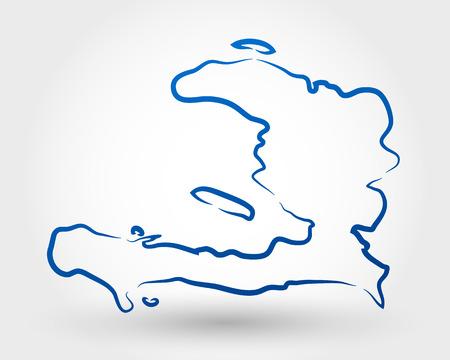 port au prince: mapa de hait�. mapa conceptual Vectores