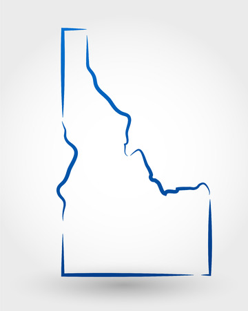 delineation: map of idaho. map concept