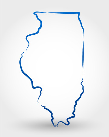 state boundary: map of illinois. map concept