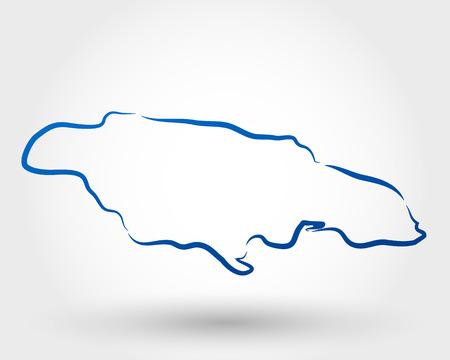 kingston: map of jamaica. map concept Illustration