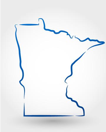 kaart van Minnesota. kaartconcept