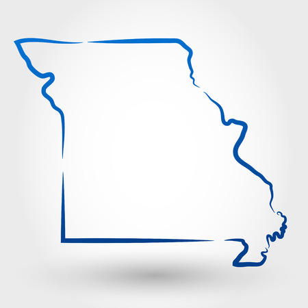 map of missouri. map concept