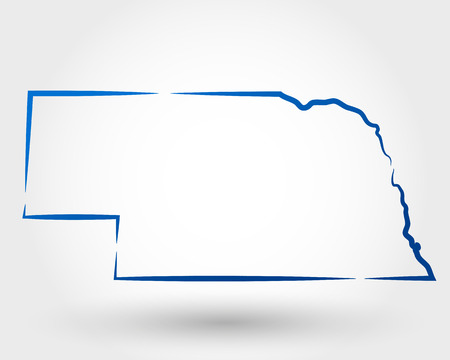 map of nebraska. map concept