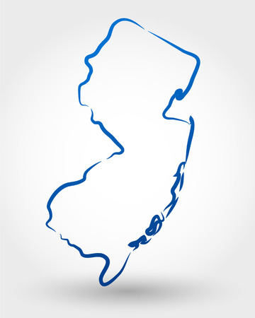 state boundary: map of new jersey. map concept