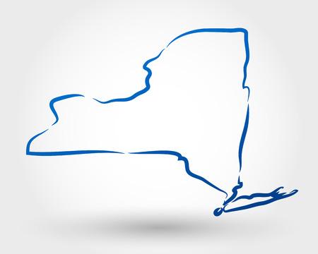mapa de Nova Iorque. mapa conceitual