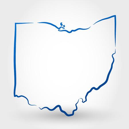 オハイオ州の地図。マップの概念