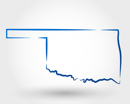 map of oklahoma. map concept