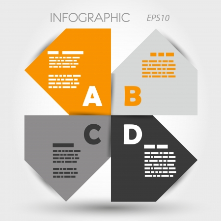 orange and grey big infographic propeller. infographic concept. Vector