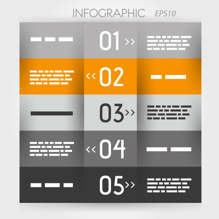 orange infographic five options  infographic concept Stock Vector - 22290547