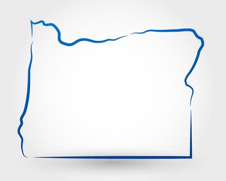 kaart van Oregon. kaartconcept