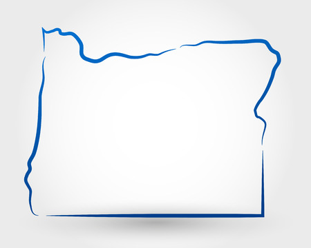 map of oregon. map concept
