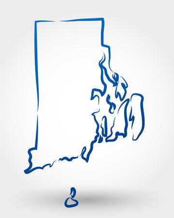mapa da ilha de Rhode. mapa conceitual