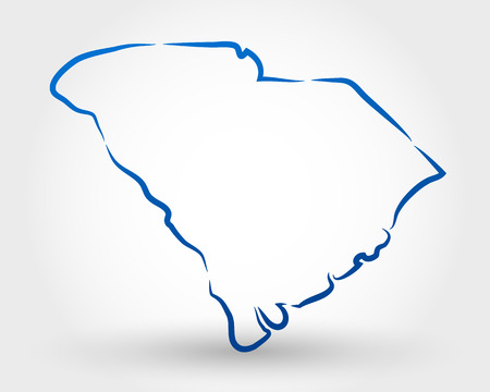 map of south carolina. map concept Stock Illustratie