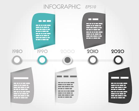 #22290716   Tall Blase Infografik Timeline
