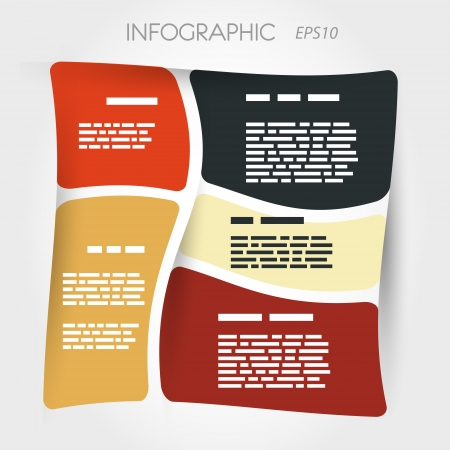 isted square presentation inforgaphic layout  infographic concept Stock Vector - 22292068